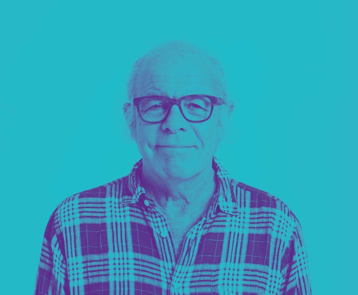 Older man with gradient