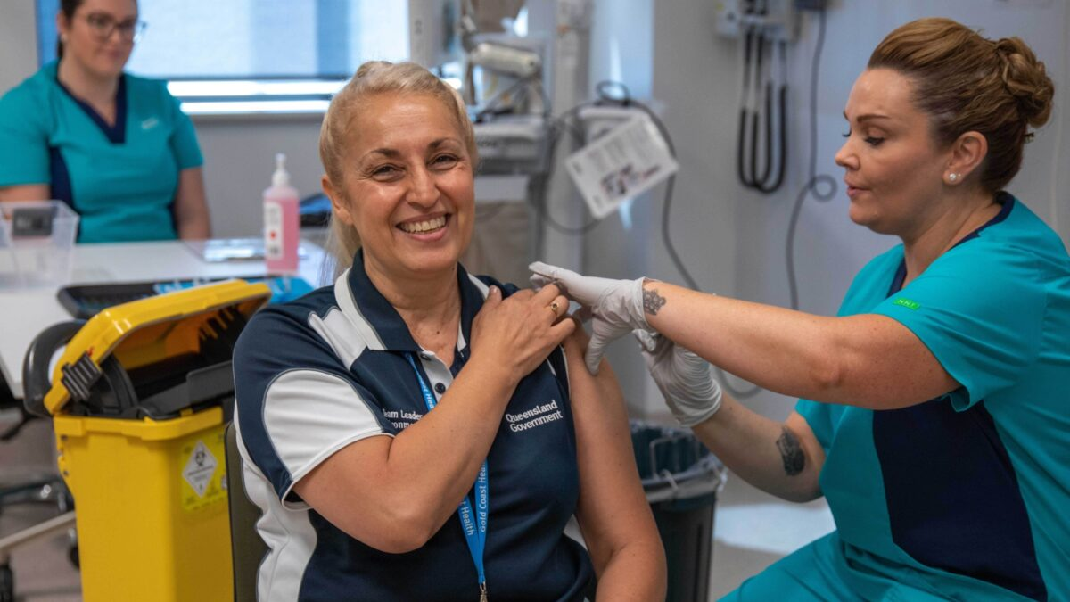 Second COVID 19 vaccine administered in Queensland
